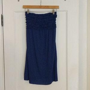 Xhilaration Strapless Midlength dress, blue, sz S